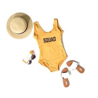 1 Pc Scoop Back Swimsuit