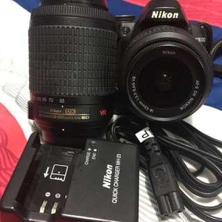 Nikon D3000 with 2 lens (set)