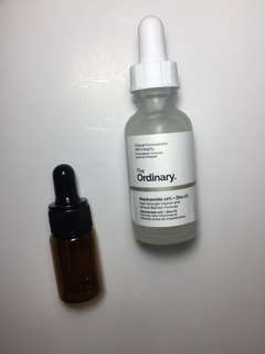 The ordinary niacinamide share in a jar