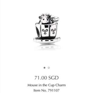 Pandora Mouse In The Cup Charm