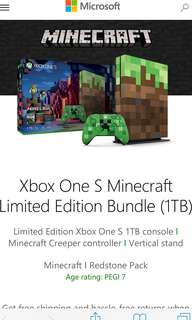 [Limited Edition] Xbox One S Console Minecraft Limited Edition