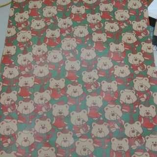 聖誕 熊 大 紙袋