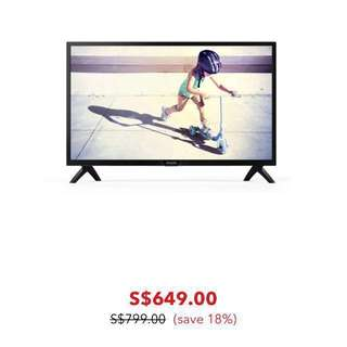 "43"" Philips Ultra Slim LED TV (with Warranty)"