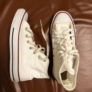 Authentic Converse High Cut White
