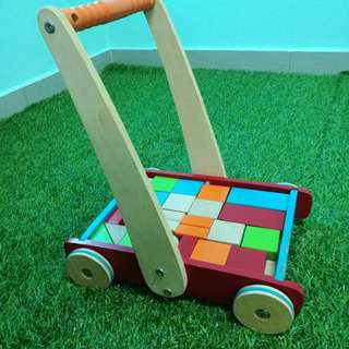 ELC push wagon with blocks