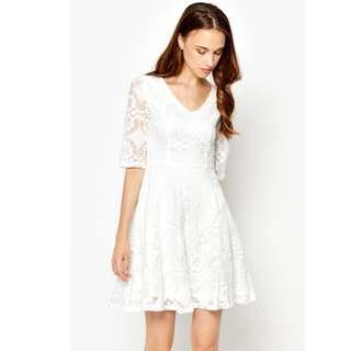 IRIDESSA CROCHET LACE DRESS WHITE (Love & Bravery)