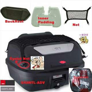 1203---GIVI BOX E43 NTL Mulebox For Sale !!!Brand New (YAMAHA, Honda, SUZUKI, ETC)