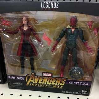 訂: 反斗城限定 vision &scarlet witch. 2 pack. Marvel legends