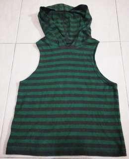 Kaos anak hoodie stripe
