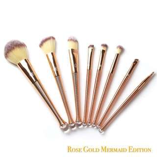 Zoreya Mermaid series Rose-Gold Makeup Brush Set (8 pcs)