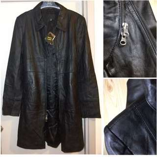 Brand New Genuine leather Long coat jacket  優質 真皮 長身 皮褸  柔軟 輕 長 長褸 乾濕褸 外套luxurious luxury windbreaker chic smart