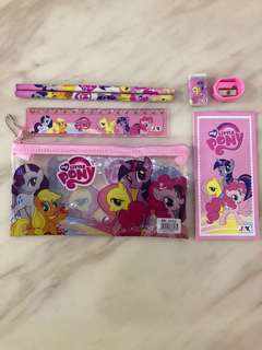 Pink little pony goodie bag set for children birthday party