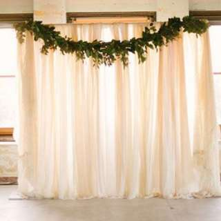 Rustic backdrop set up