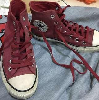 Converse酒紅色帆布鞋(含運)