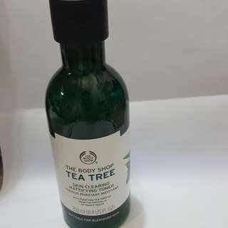 The body shop tea tree toner masih banyak murah