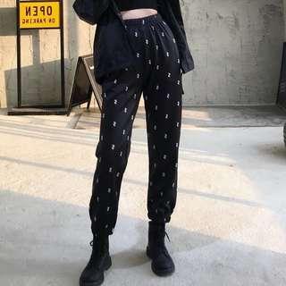 Po: Printed sweatpants