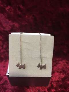 Agatha earrings (icon: doggie) 925 silver 60% new
