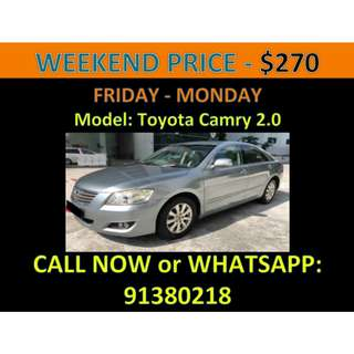 Toyota Camry Weekend Car Rental March