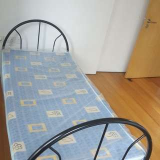 Single Bed Set 4 inch foam mattress (In plastic cover)