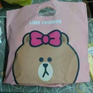 Line Friends Store 膠袋