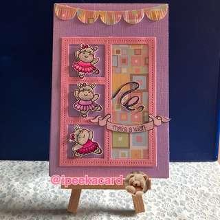 Handmade card (little ballerina)