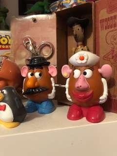薯彈頭先生太太 反斗奇兵 玩具總動員 Toystory