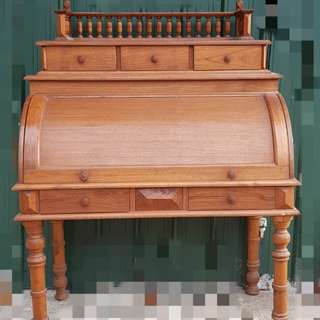 Colonial Vintage Writing Desk with cover teak wood