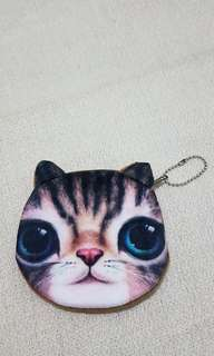 Cute cat face wallet or coin pouch