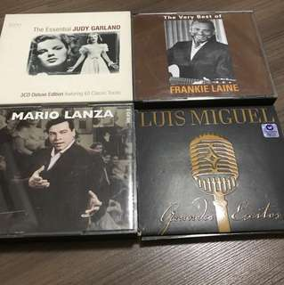 The Best Of Judy Garland/Mario Lanza/Frankie Laine/Luis Miguel ( All for $12)