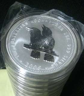 1oz Perth Mint Silver Kookaburra 2006 bullion coin (low mintage)