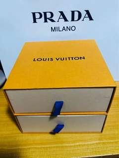 LV櫃桶紙盒2個正方形