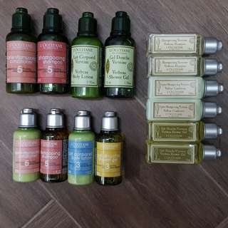 L'occitane travel toiletries
