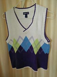 Knitted  colorful vest