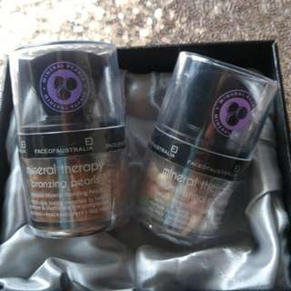 Bronzer & Highlighter Face of Australia Mineral Therapy Pearls @100rb