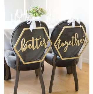 Better Together Wedding Signage (Rental)