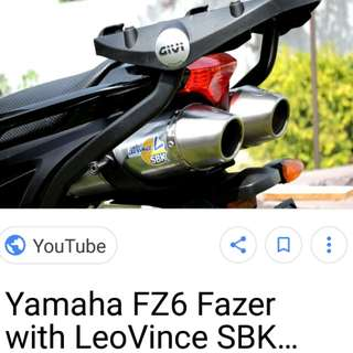 Legal exhaust pipe for fazer 600 s2