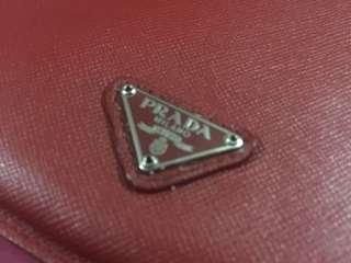 Prada Red Saffiano Mini Ipad Cover