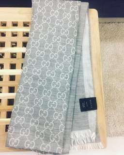 Gucci Scarf 70% Wool 30% Silk (Made in Italy)