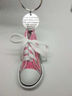 Shoe Keychain with motivational quote