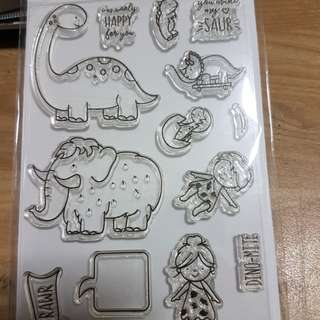 Neat and tangled stamp