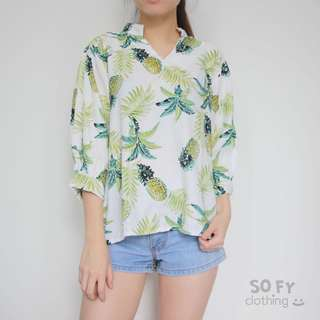 NEW! pineapple tropical top