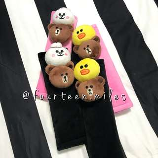 [INSTOCKS!] LINE CHARACTERS SEATBELT COVER