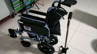 Push chair and a walking stick
