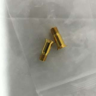 Jockey wheels gold bolts