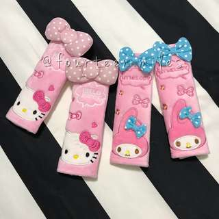 [INSTOCKS!] HELLO KITTY/MY MELODY SEATBELT COVER