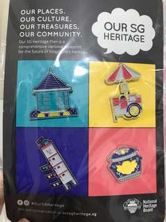 Singapore heritage badges and pins