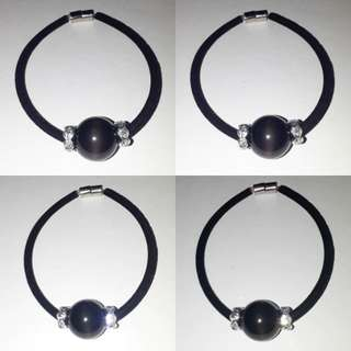 🎆Special Offer🎆 Very Nice and Trendy, Rainbow obsidian + Zirconia spacer Bracelet.