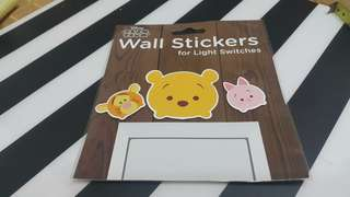 Disney Tsum Tsum wall stickers for light switches  燈制牆貼