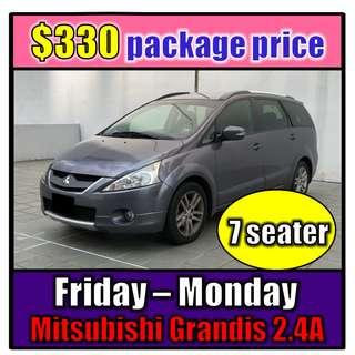 Fri to Mon Car Rental Mit Grandis 2.4A (3-Day Weekend Package)