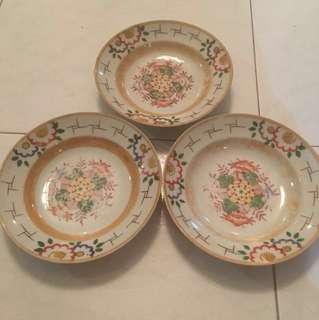 Antique Handpainted Porcelain Plates